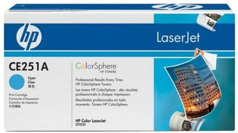 HP Color LaserJet CE251A Cyan Print Cartridge  (Cyan)