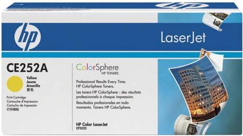 HP Color LaserJet CE252A Yellow Print Cartridge  (Yellow)