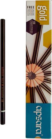Apsara Gold Round Shaped Pencils  (Set of 10, Black)