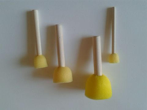 Yellow sponge stick