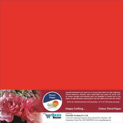 Flower Paper - Red