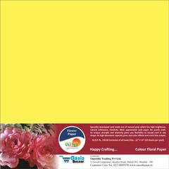 Flower Paper - Dark Yellow