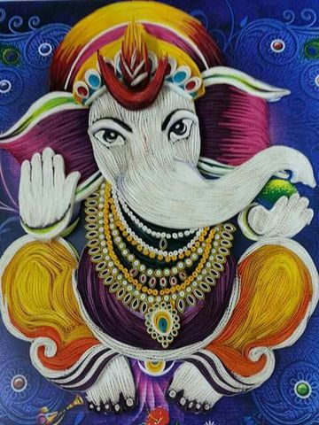 Quilled Ganesha A