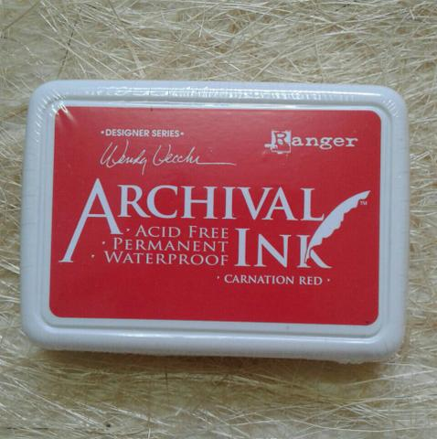 Archival Ink - Carnation Red
