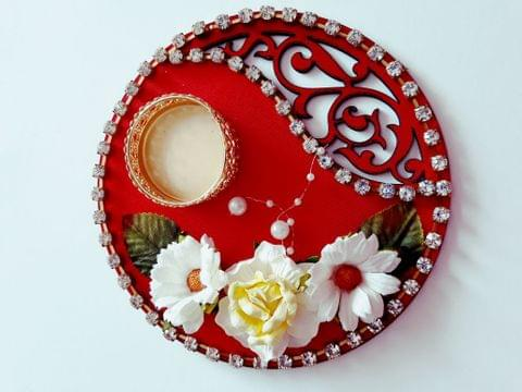 Decorative Diya Plate 6X6 01