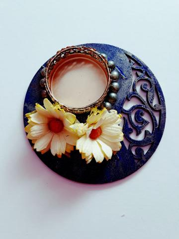 Decorative Diya Plate 4X4 01