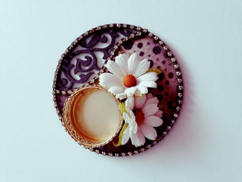 Decorative Diya Plate 4X4 02