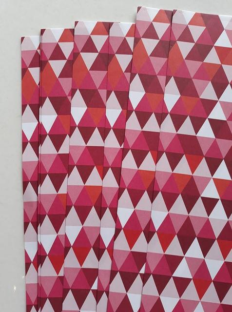 Handmade Papers - Pink Triangles