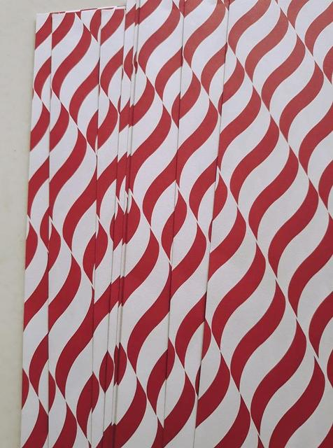 Handmade Papers - Red Wave