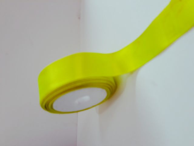 Oasis Satin Ribbon Fluorescent Green 30.48mm X 10Meter