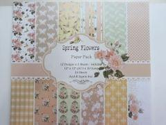 """Paper Pack - Spring Flowers 12"""" X 12"""""""
