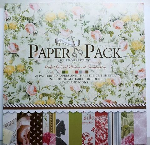 "Paper Pack - perfect For Cardmaking & Scrapbooking. 12"" X 12"" Size"