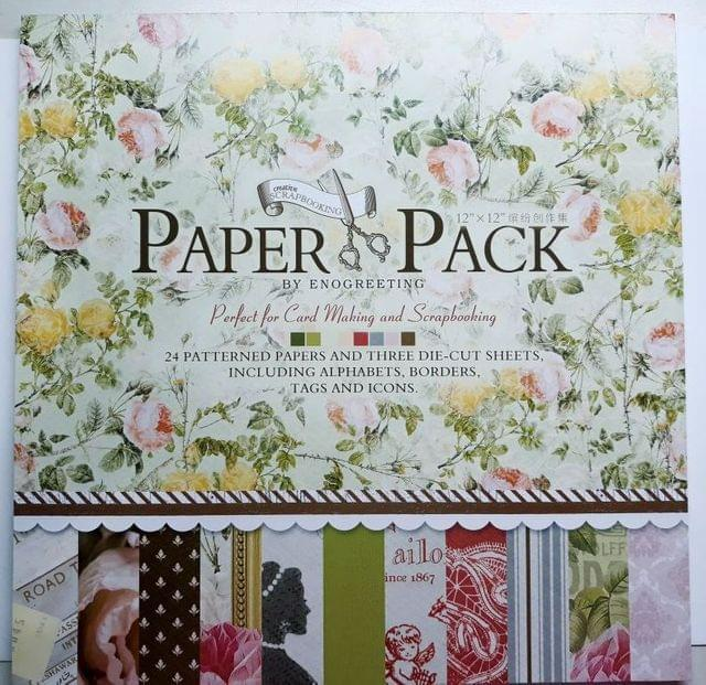 """Paper Pack - perfect For Cardmaking & Scrapbooking. 12"""" X 12"""" Size"""