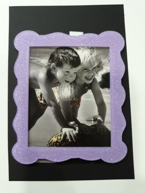 Oasis Acrylic Glitter Photo Frame Small- 05