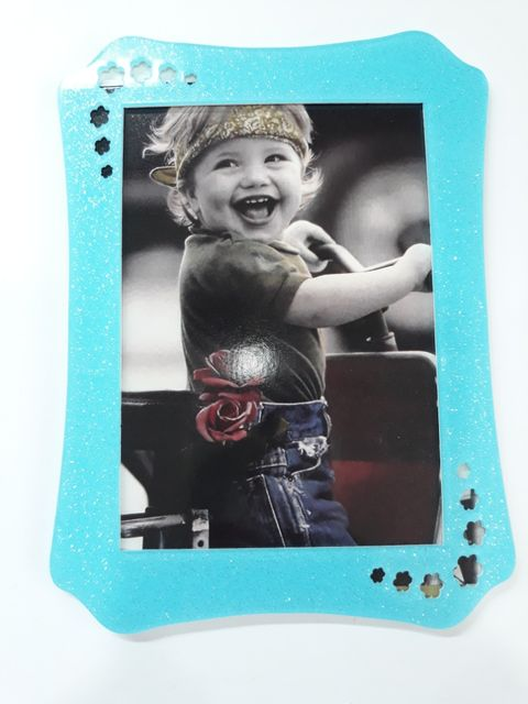 Oasis Acrylic Glitter Photo Frame Big - 14