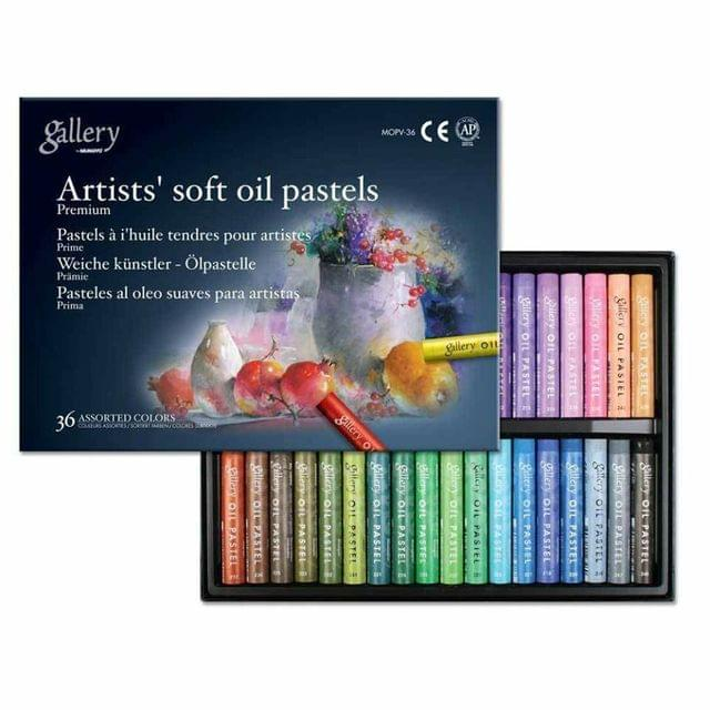 Artist's Soft Oil Pastels 36 Colors in Packet.