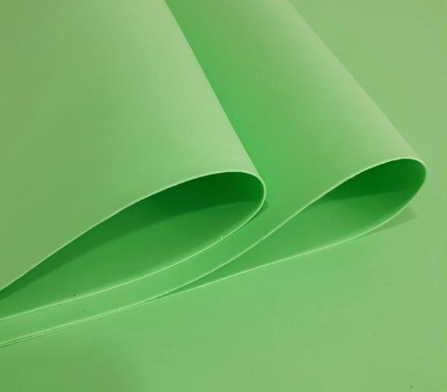 """Foam Sheets Light Green in Color 18"""" X 18"""" Inches in Size."""