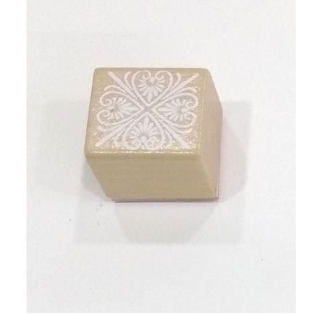Wooden Stamp in Square Shape.Design 01
