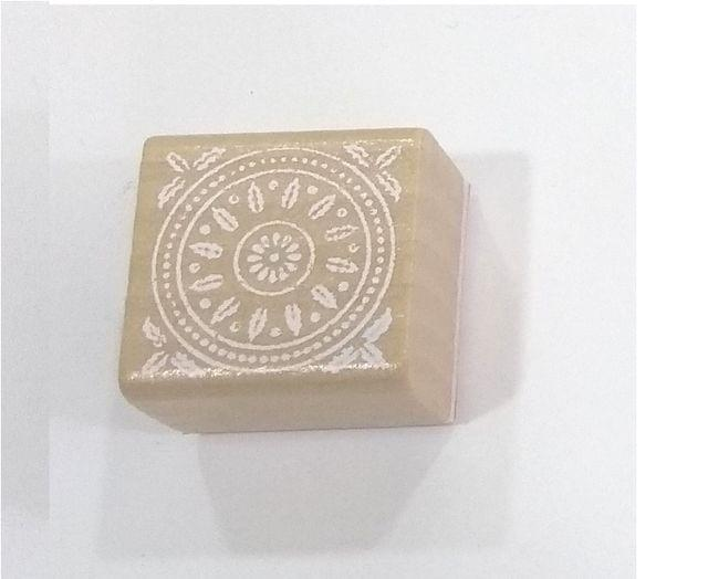 Wooden Stamp in Square Shape Design 03