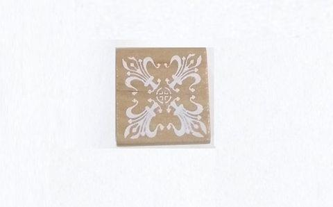 Wooden Stamp in Square Shape Design 04
