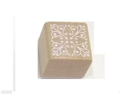 Wooden Stamp in Square Shape Design 06
