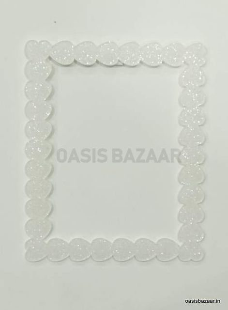 Acrylic Glitter Photo Frame White