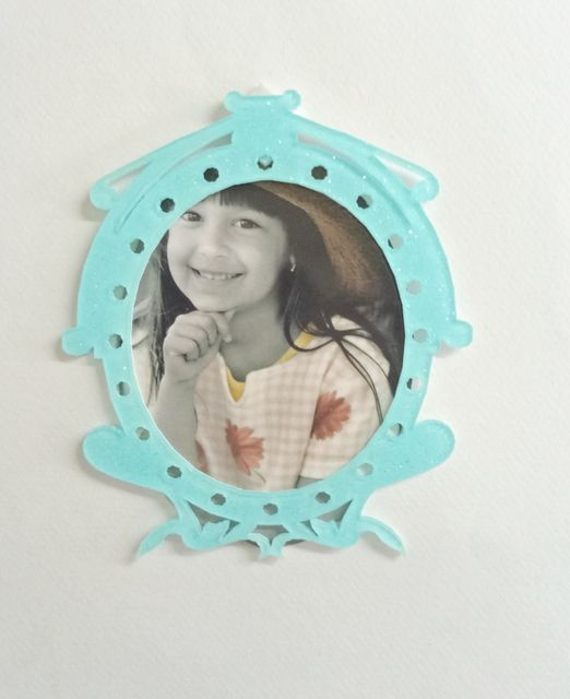 Acrylic Glitter Photo Frame Light Blue