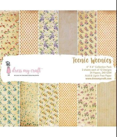 "Dress My Craft Teenie Weenies - 6"" x 6"" Paper Pad"