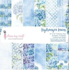 "Dress My Craft Hydrangea Lawns - 12"" x 12"" Paper Pad"