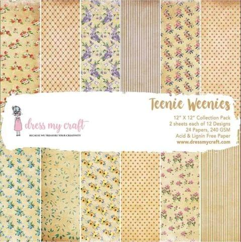 "Dress My Craft Teenie Weenies - 12"" x 12"" Paper Pad"