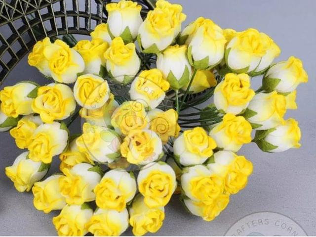 Twisted Rose Buds - Yellow