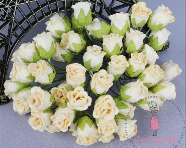 Twisted Rose Buds - Cream