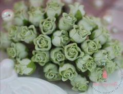 Twisted Rose Buds - Dull Green