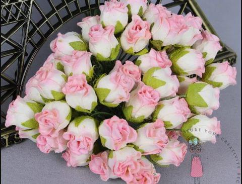 Twisted Rose Buds - Soft Pink