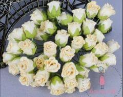 Twisted Rose Buds - Cream Yellow