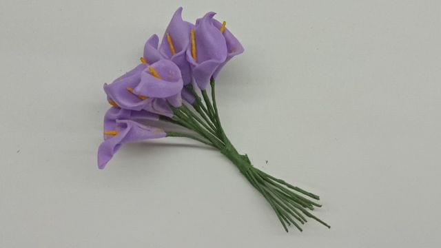 Calla Lily (Foam Fillers) 12 bunches of Packet Lavender in color