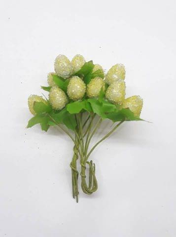 Sugar head pollen light yellow In Color Pack Of 2 Bunches.