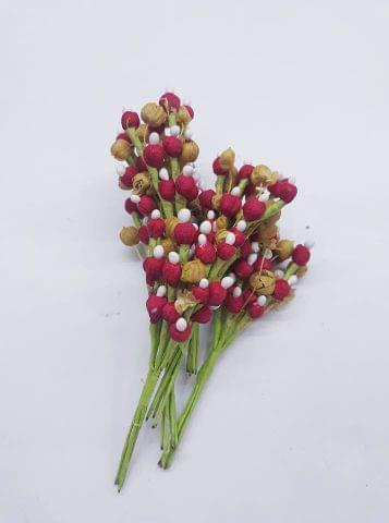 Mulberry Cherry Fillers Red In Colour Pack of 12 bunches