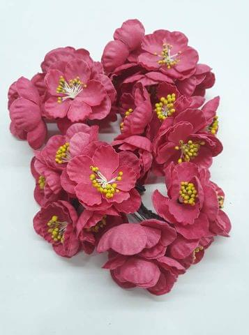 Poppy Rose Flowers Dark Pink in Colour Pack of 10 Bunches