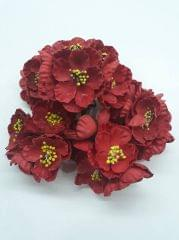 Poppy Rose Flowers Red in Color Pack of 10 Bunches