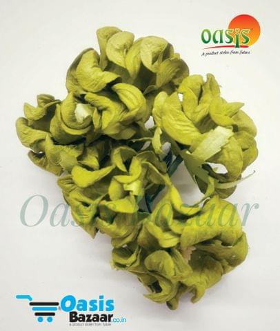 Mulberry Gardenia Flowers Olive Green In Color 5 Bunches in Pack