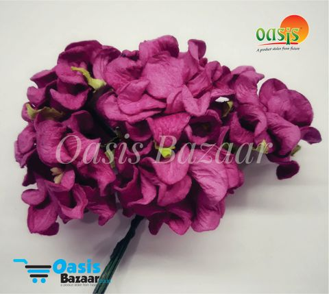 Mulberry Gardenia Flowers Dark Pink In Color 5 Bunches in Pack