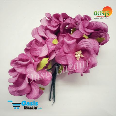 Mulberry Gardenia Flowers Light Pink In Color 5 Bunches in Pack