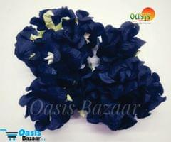 Mulberry Gardenia Flowers Navy Blue In Color 5 Bunches in Pack