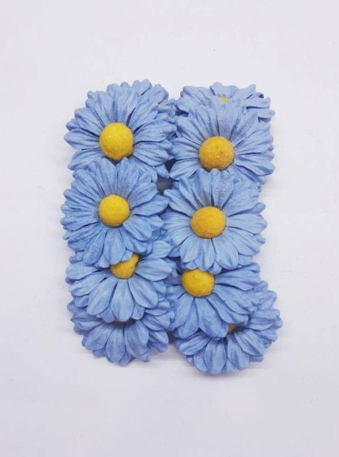 Daisy Sun Flowers Blue in Color Pack of 25 Flowers.
