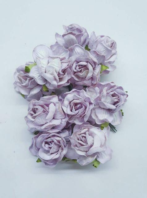 Curly Rose Flowers Pink in Color Pack of 10 Bunches
