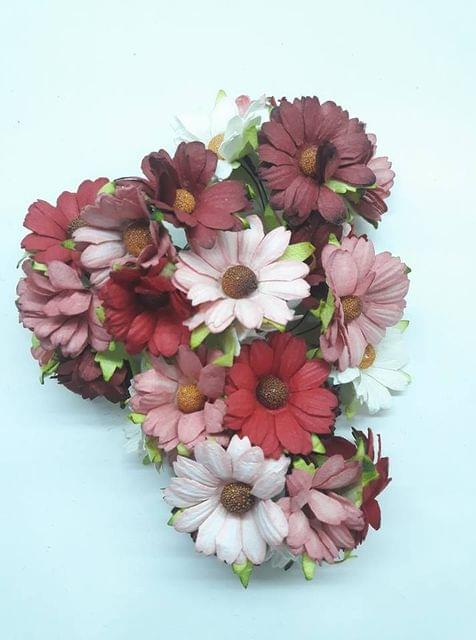 Daisy Sun Flowers Peach Pink in Color Pack of 10 Bunches.