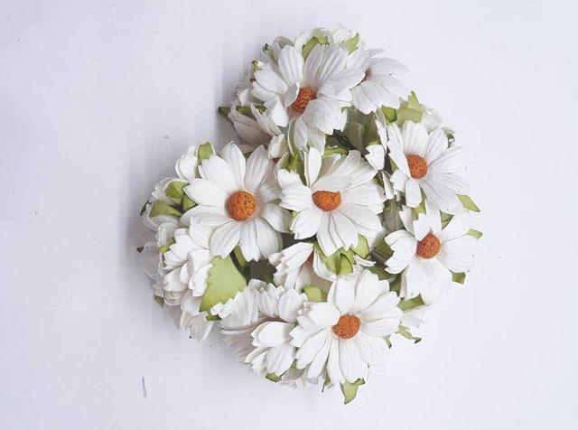 Daisy Sun Flowers White in Color Pack of 10 Bunches.
