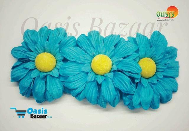 Sun Flowers Color Torquise Blue. 17