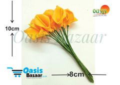 Calla Lily (Foam Fillers) 24 Fillers of Packet Honey Orange in color